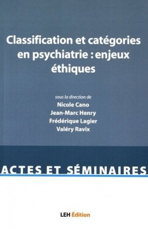 Classification et catégories en psychiatrie : enjeux éthiques - les etudes hospitalieres - 9782848746661 -