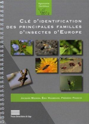 Clé d'identification des principales familles d'insectes d'Europe - Presses Agronomiques Gembloux - 9782870161753 -