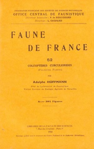 Coléoptères curculionides (Première partie) - federation francaise des societes de sciences naturelles - 2223618945428 -