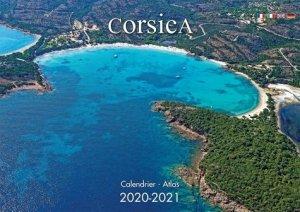 Corsica : calendrier atlas 2020-2021 - clementine - 3760093112819 -