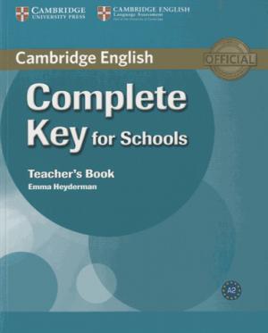 Complete Key for Schools - Teacher's Book - cambridge - 9780521124744 -