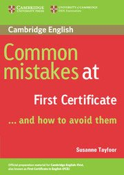 Common Mistakes at First Certificate… and How to Avoid Them - Paperback - cambridge - 9780521520621 -
