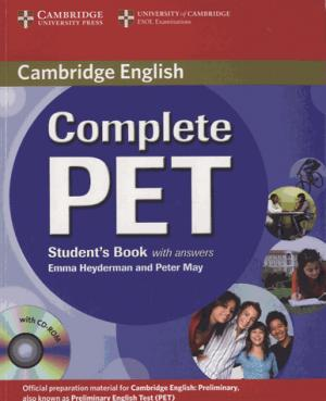 Complete PET - Student's Book with answers with CD-ROM - cambridge - 9780521741361 -