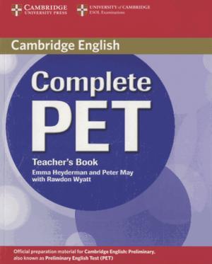 Complete PET - Teacher's Book - cambridge - 9780521741378 -