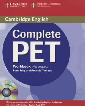 Complete PET - Workbook with answers with Audio CD - cambridge - 9780521741408 -
