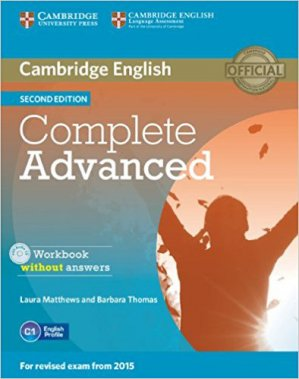 Complete Advanced - Workbook without Answers with Audio CD - cambridge - 9781107631489 -