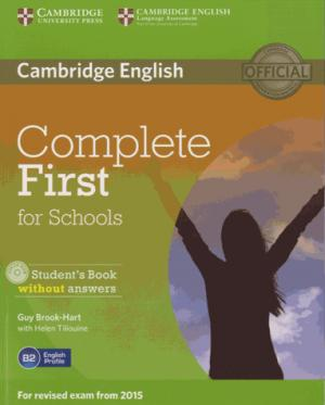 Complete First for Schools - Student's Book without Answers with CD-ROM - cambridge - 9781107675162 -