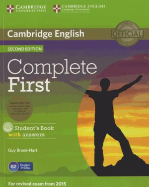 Complete First - Student's Book Pack (Student's Book with Answers with CD-ROM, Class Audio CDs (2)) - cambridge - 9781107698352 -