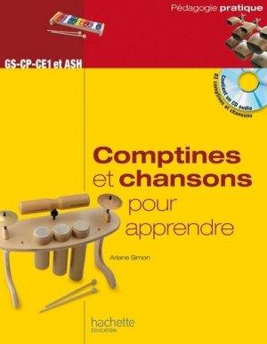 Comptines et chansons pour apprendre - Hachette Education - 9782012708969 -
