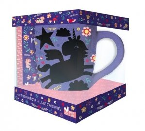 Coffret Mon mug magique licorne. Mes activités licornes avec 1 mug thermoréactif - Hachette - 9782017862642 -