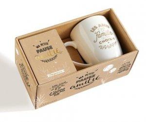 Coffret Ma petite pause amitié. Avec 1 mug et un petit agenda de sac - Larousse - 9782035962911 -