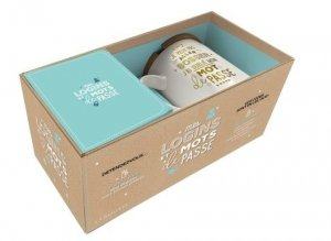 Coffret Mes logins et mots de passe. 1 mug + 1 carnet secret - Larousse - 9782035964229 -