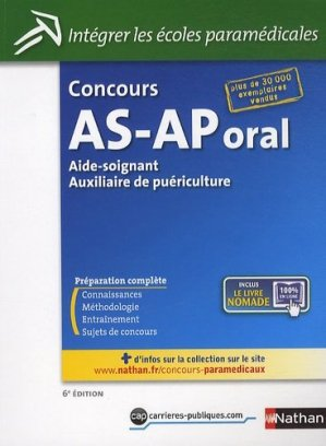 Concours AS-AP Oral - nathan - 9782091624839 -
