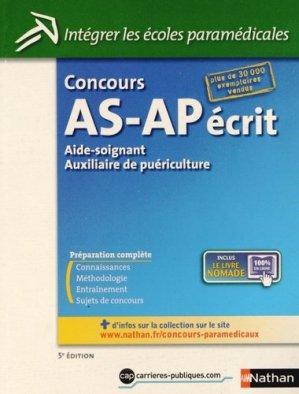 Concours AS-AP écrit - nathan - 9782091629599 -