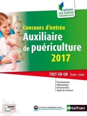 Concours d'entrée Auxiliaire de puériculture 2017 - nathan - 9782091647395 -