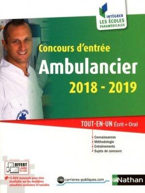 Concours d'entrée Ambulancier - nathan - 9782091649634 -