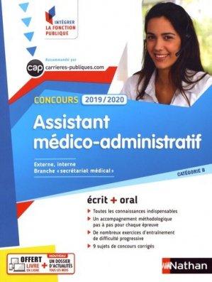 Concours Assistant médico-administratif - Cat B - - nathan - 9782091652221