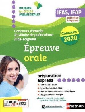 Concours aide-soignant auxiliaire de puériculture 2020 - nathan - 9782091670157 -