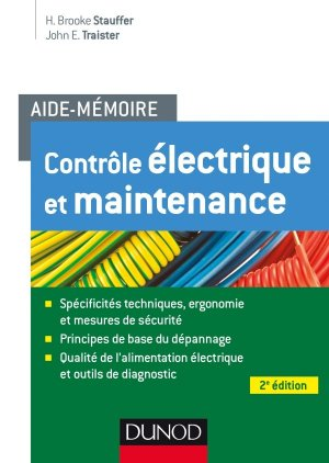 Contrôle électrique et Maintenance - dunod - 9782100751945 -