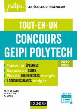 Concours Geipi Polytech - Tout-en-un 2019-2020 - dunod - 9782100769704 -