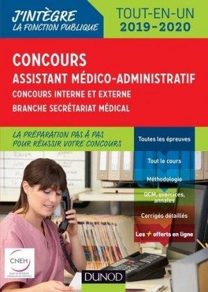 Concours Assistant médico-administratif 2019-2020 Tout-en-un Catégorie B - Concours externe et inter - dunod - 9782100784226 -