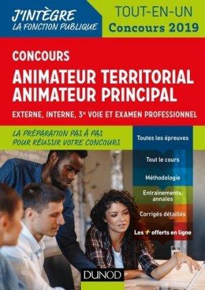 Concours Animateur territorial, animateur territorial principal - dunod - 9782100789641 -