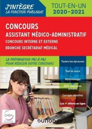 Concours Assistant médico-administratif 2020-2021 - dunod - 9782100796236 -