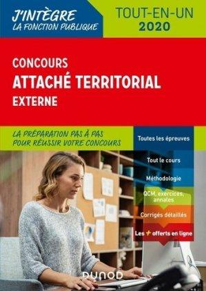 Concours attaché territorial externe. Tout-en-un, Edition 2020 - Dunod - 9782100801718 -