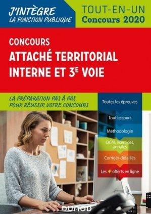 Concours Attaché territorial Interne et 3e voie. Tout-en-un, Edition 2020 - Dunod - 9782100801725 -