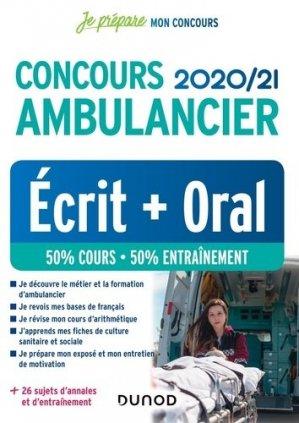 Concours Ambulancier 2020-2021 - dunod - 9782100806768 -