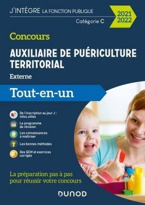 Concours Auxiliaire de puériculture territorial 2021-2022 - dunod - 9782100814534 -