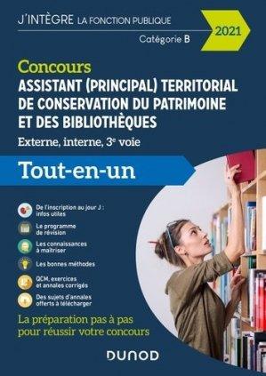 Concours Assistant (principal) territorial de conservation du patrimoine et des bibliothèques externe, interne, 3e voie - Dunod - 9782100814541 -
