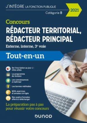 Concours Rédacteur territorial - Dunod - 9782100814695 -