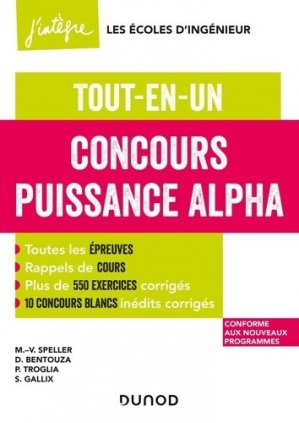 Concours Puissance Alpha - Dunod - 9782100820214 -