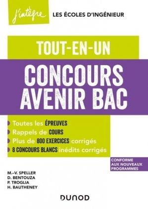 Concours Avenir Bac - Dunod - 9782100820221 -