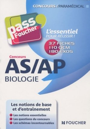 Concours AS/AP Biologie - foucher - 9782216114726 -