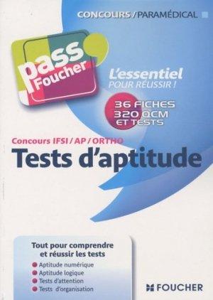 Concours IFSI/AP/Ortho Tests d'aptitude - Foucher - 9782216114757 - majbook ème édition, majbook 1ère édition, livre ecn major, livre ecn, fiche ecn