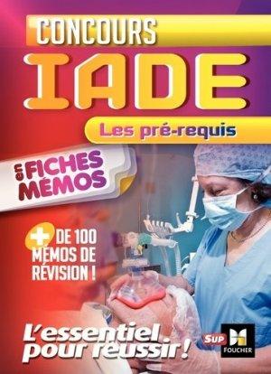 Concours IADE en fiches mémos - foucher - 9782216143382 -