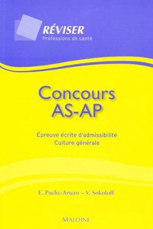 Concours AS AP Épreuve écrite d'admissibilité Culture générale - maloine - 9782224030650 -