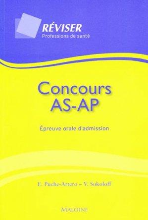 Concours AS AP Épreuve orale d'admission - maloine - 9782224030667 -