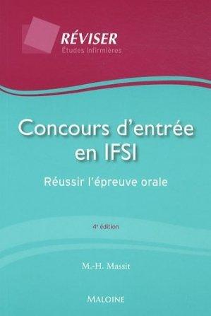 Concours d'entrée en IFSI - maloine - 9782224031404 -