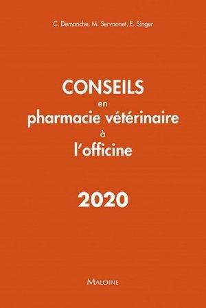 Conseils en pharmacie vétérinaire à l'officine 2020 - maloine - 9782224035853 -