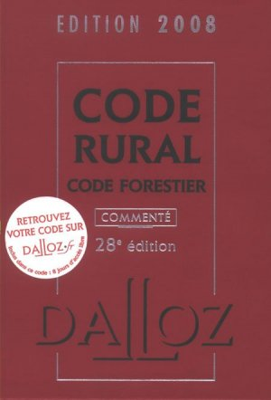 Code rural Code forestier - dalloz - 9782247076215 -