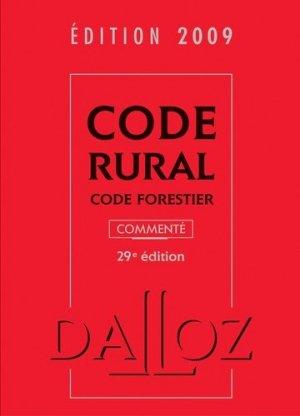 Code rural. Code forestier, 29e édition - dalloz - 9782247082377 -