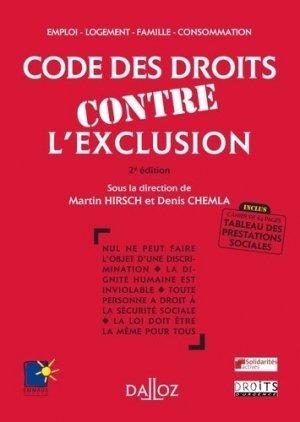 Code des droits contre l'exclusion. 2e édition - dalloz - 9782247089987 -