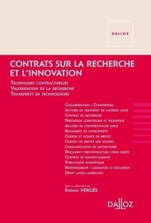 Contrats sur la recherche et l'innovation - Nouveauté - dalloz - 9782247161249