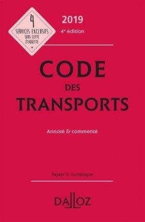 Code des transports 2018, annoté et commenté - dalloz - 9782247177325 -