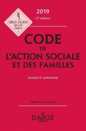 Code de l'action sociale et des familles 2019 - dalloz - 9782247186464 -