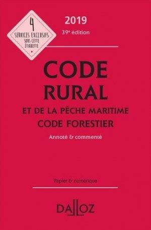 Code rural et de la pêche maritime code forestier 2019 - dalloz - 9782247186471 -