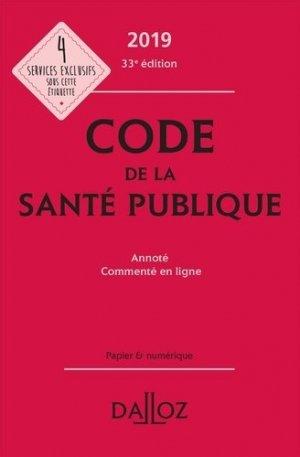 Code de la santé publique 2019 - dalloz - 9782247186525